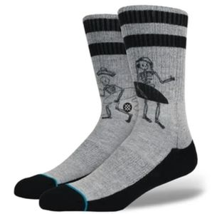 Skeleton Surfing Stance Socks.